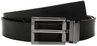 Calvin Klein 32mm Reversible w/ Logo Buckle (Black) Men's Belts