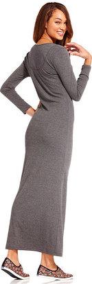 Keds Juniors Dress, Long Sleeve Henley Maxi