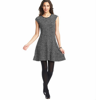 LOFT Textured Stripe Tee Dress