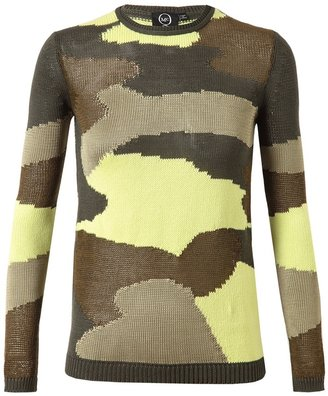 McQ by Alexander McQueen Camouflage Knitted Cotton-blend Jumper
