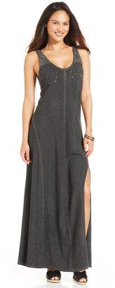 DKNY Sleeveless Sequin Maxi Dress