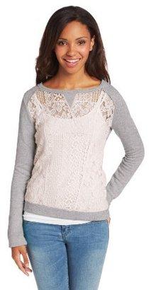 Jolt Juniors Crochet Front Sweatshirt