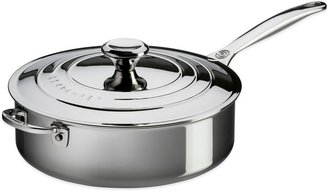 Le Creuset 4.5-Quart Tri-Ply Stainless Steel Covered Sauté Pan with Helper Handle