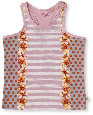 Stella McCartney Girl's Valentine Dotted and Striped Tank Top - Pink