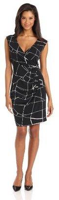 Chaus Women's Sleeveless Cross Front Dress