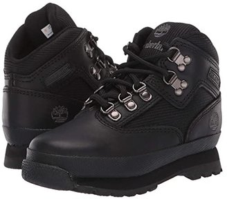 Timberland Kids Euro Hiker (Infant/Toddler) (Black Smooth/Black) Boys Shoes
