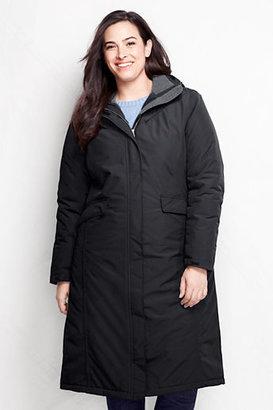 Lands' End Women's Plus Size Stadium Squall Coat