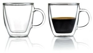 Bodum Bistro Set of 2 Double Walled 5 Oz. Espresso Mugs