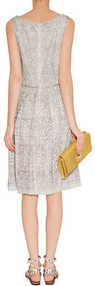 Collette Dinnigan Ivory Embroidered Lace Silk Dress