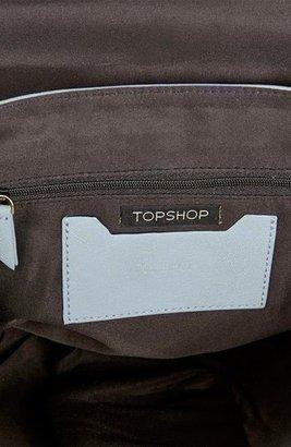 Topshop Cutwork Trim Faux Leather Satchel, Medium