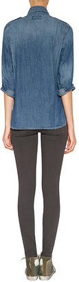 Current/Elliott Ankle Skinny Jeans with Studs in Licorice