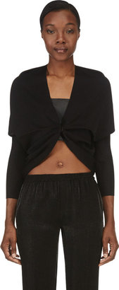 Lanvin Black Draped Shrug $1,990 thestylecure.com