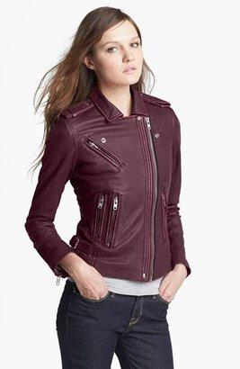 IRO 'Cuir' Asymmetrical Zip Leather Jacket