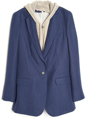 Veronica Beard The Jacket with Knit Dickey