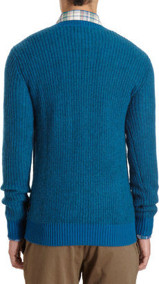 Paul Smith Crewneck Sweater with Chest Pocket