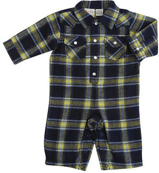 Cynthia Rowley Rough-and-Tumble Plaid Coverall - Blue (0-3 Months)