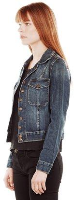 Current/Elliott Snap Denim Jacket In Loved