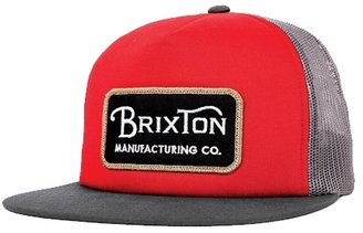 Brixton Route Mesh Cap - Red / Charcoal - One Size
