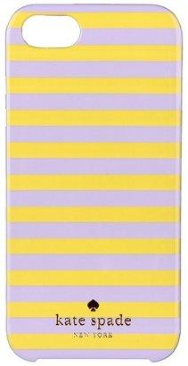 Kate Spade Petula Stripe Resin Phone Case for iPhone 5 (Light Crocus/Moonshine) - Electronics