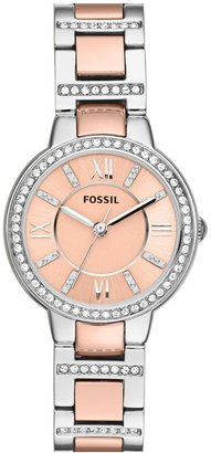 Fossil 'Virginia' Crystal Bezel Bracelet Watch, 30mm