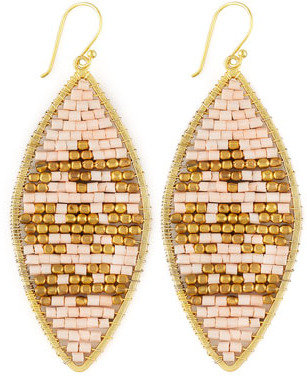 Nakamol Beaded Leaf-Shape Earrings