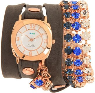 La Mer Dusk Crystal Wrap (Dark Grey/Rose Gold) - Jewelry