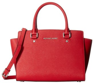 MICHAEL Michael Kors - Selma Medium Tz Satchel Satchel Handbags $298 thestylecure.com
