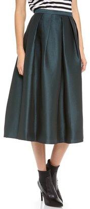 Tibi Simona Jacquard Full Skirt