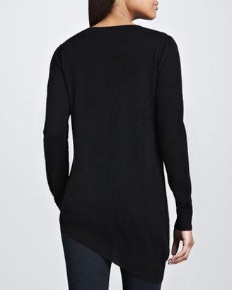 360Sweater Adria Asymmetric V-Neck Sweater