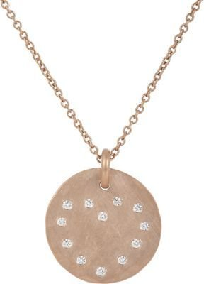 Linda Lee Johnson Diamond & Rose Gold Cosmic Coin Pendant Necklace