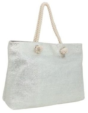 Magid Metallic Straw Tote Bag