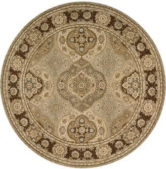 Nourison Round Area Rug, Wool & Silk 2000 2260 Multi Color 8'