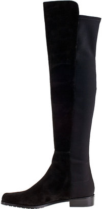 Stuart Weitzman 5050 Over-the-Knee Boot Black Leather
