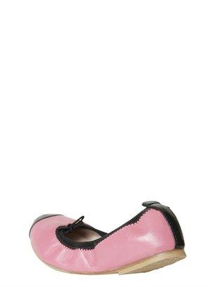 Bloch Bicolor Pearled Leather Ballerinas