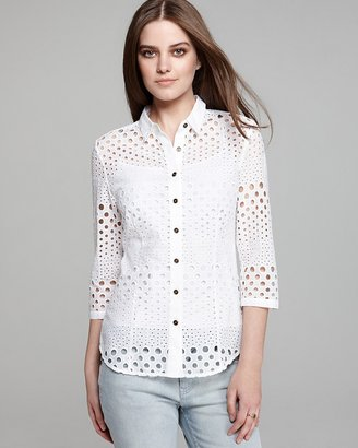 Burberry Punched Eyelet Shirt