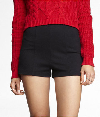 Express 2 Inch High Rise Ponte Knit Shorts