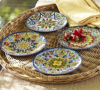 Pottery Barn Talavera Melamine Dinnerware, Sets of 4