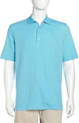 Bobby Jones Striped Polo Shirt, Turquoise