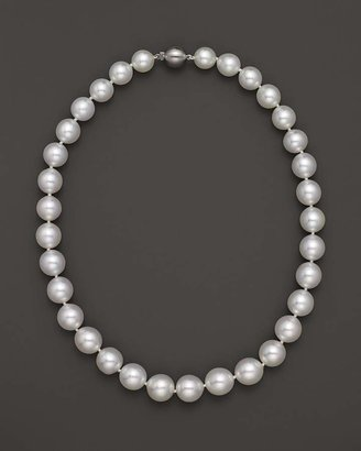 """Bloomingdale's Cultured White South Sea Pearl Necklace in 14K Yellow Gold, 18"""""""