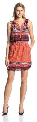 Lucky Brand Women's Mandarin Tie Dress