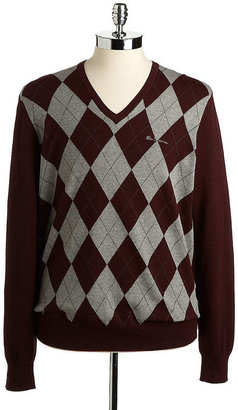 Ben Sherman Haddington Argyle V-Neck Sweater