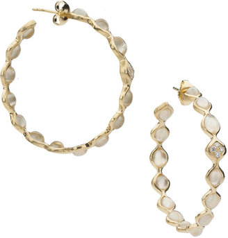 Elizabeth Showers Simone Quartz Hoop Earrings