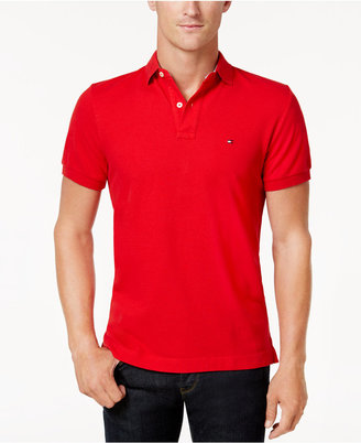 Tommy Hilfiger Men's Big and Tall Solid Ivy Polo $59.50 thestylecure.com