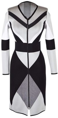 Octavio Pizarro Cubist Jacquard Dress