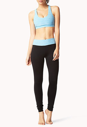 Forever 21 Heathered Skinny Workout Leggings