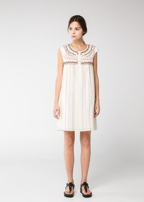MANGO Outlet Ethnic Embroidered Dress