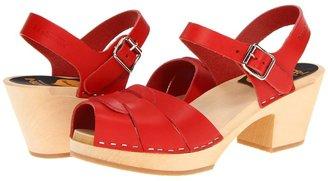 Swedish Hasbeens Peep Toe High Women's 1-2 inch heel Shoes