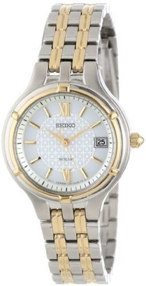 "Seiko Women's SUT020 ""Dress"" Two-Tone Stainless Steel Solar Watch $250 thestylecure.com"