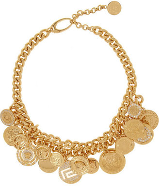 Versace Gold-plated Swarovski crystal necklace
