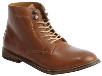 Ben Sherman tan cracked leather lace up boots